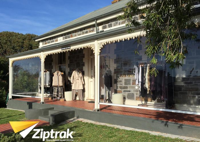 Ziptrak Clear PVC Outdoor Blind 3
