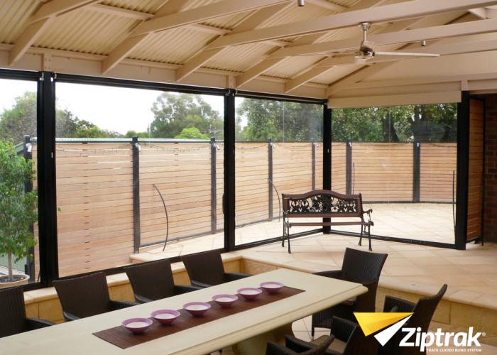 Ziptrak outdoor PVC blind