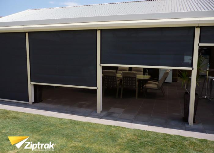 Ziptrak blinds for backyard