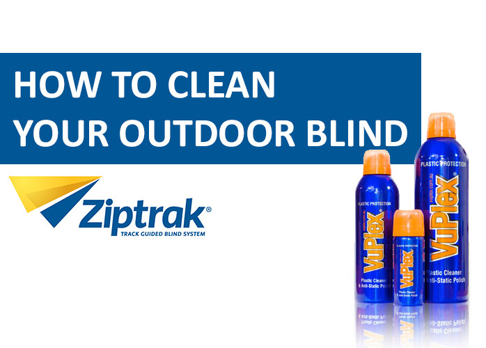 how to clean outdoor blinds